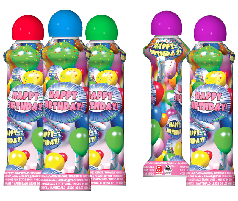 Birthday Bingo Ink Marker Bingo Ink Markers