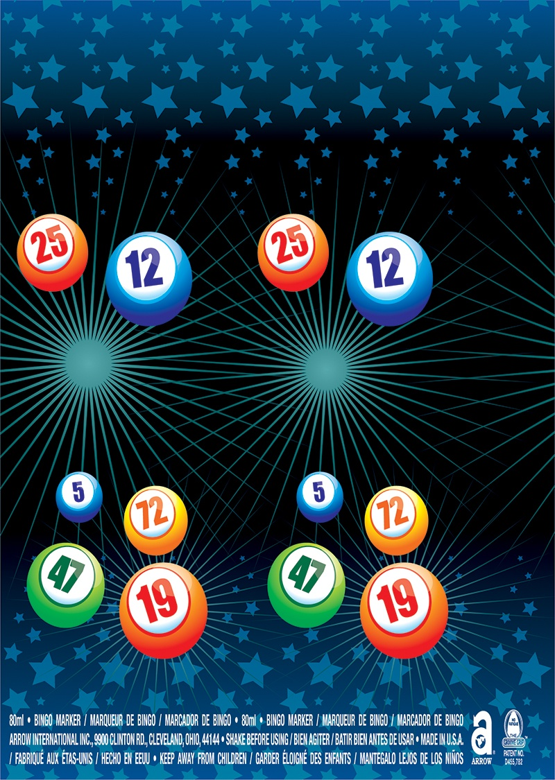 Stars Bingo Balls