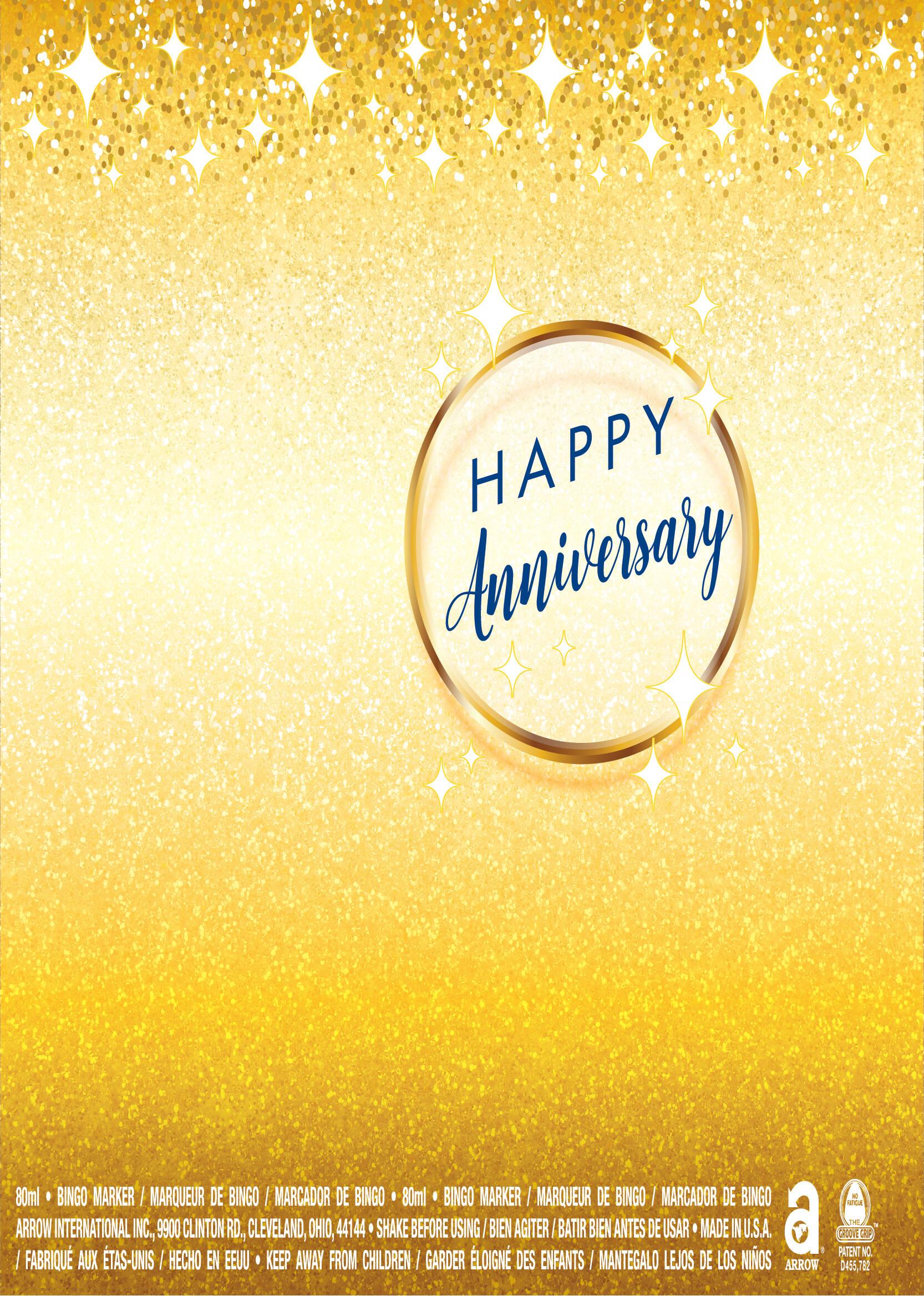 Happy Anniversary / Gold Stars