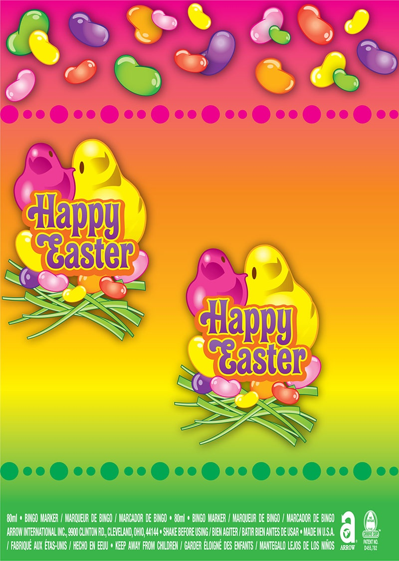 Happy Easter / Peeps and Jelly Beans