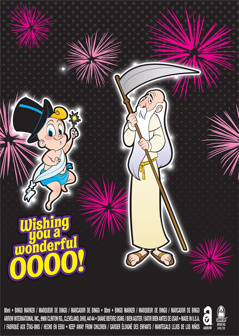 Wishing you a Wonderful 0000! / Baby and Old Man