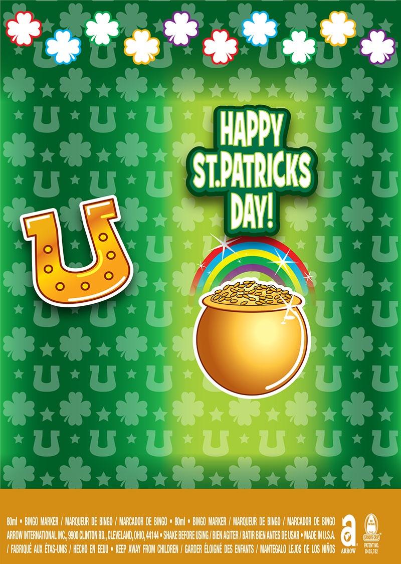 Happy St. Patricks Day! / Horseshoe and Pot of Gold