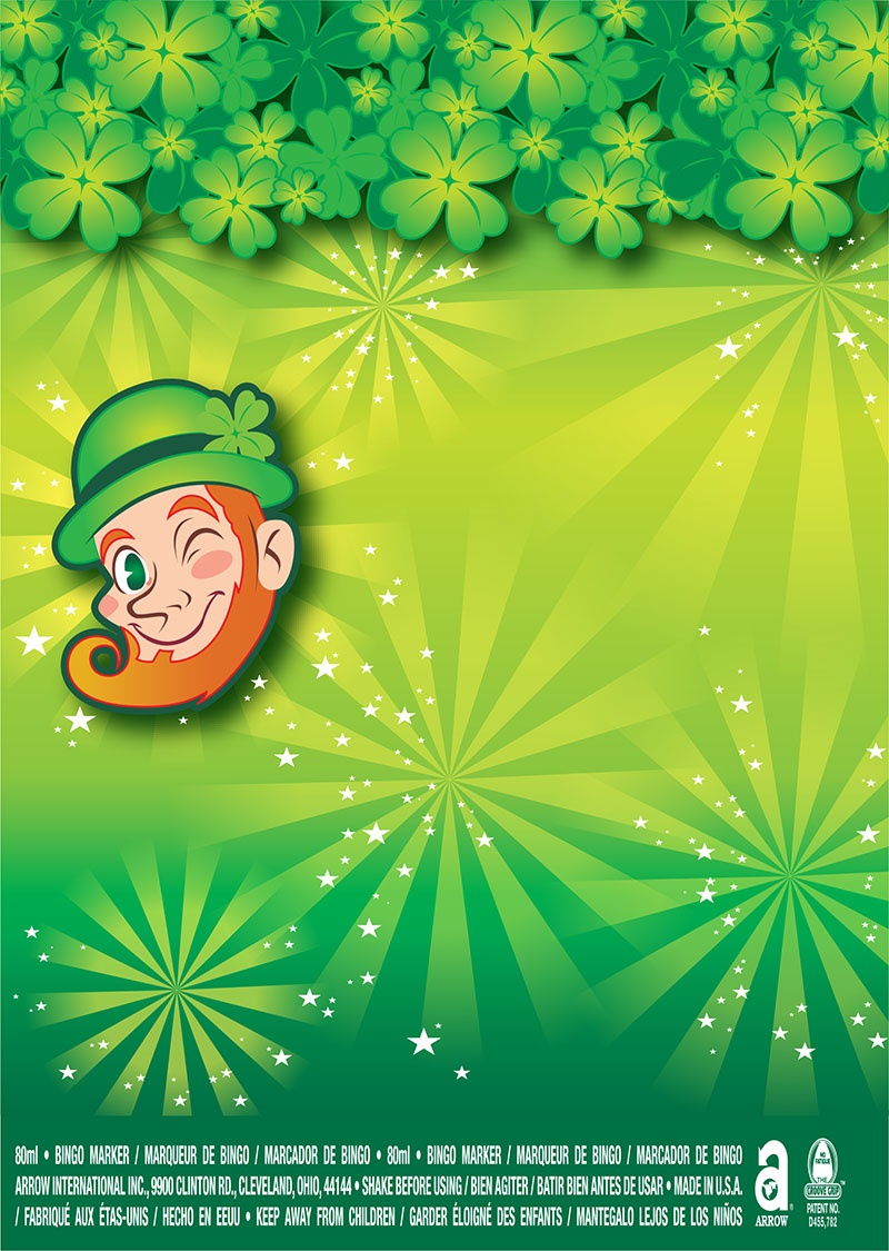 Happy St. Patricks Day! / Leprechaun and Starbursts