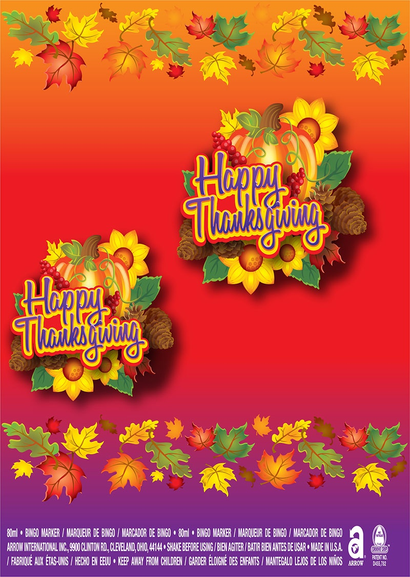 Happy Thanksgiving / Fall Leaves and Pumpkins