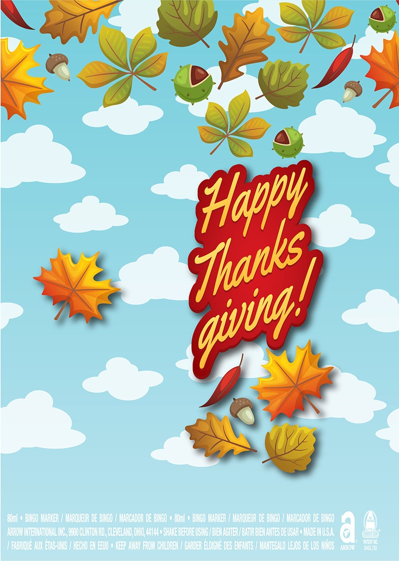 Happy Thanksgiving / Fall Leaves