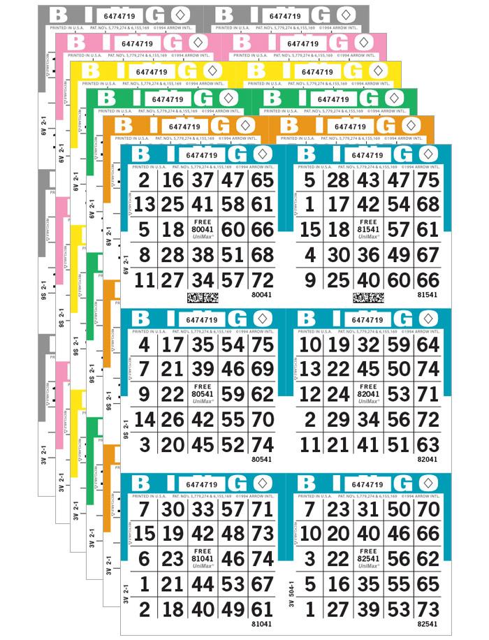 UniMax Bingo Paper