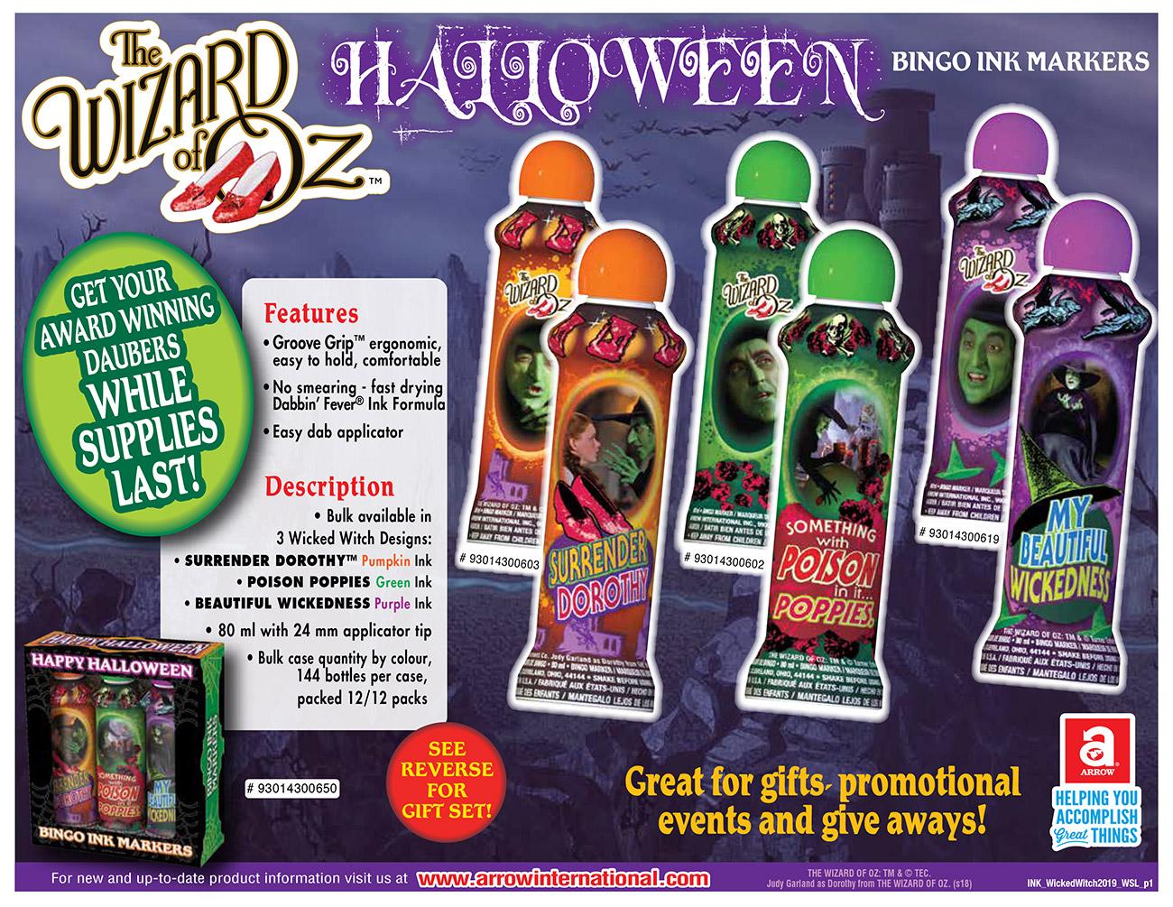 Halloween Bingo Ink Marker