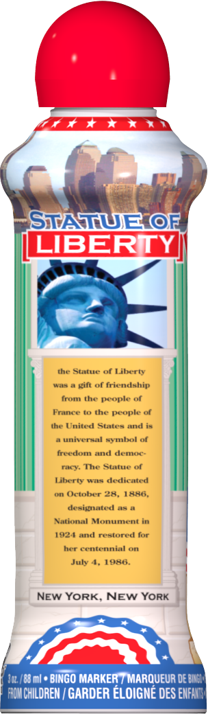 Statue of Liberty Bingo Ink