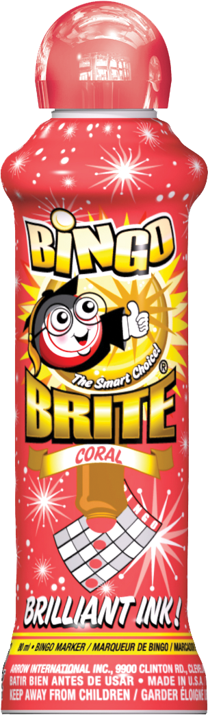Coral Bingo Brite Ink
