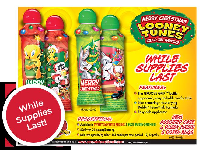 Looney Tunes Christmas ink bottles
