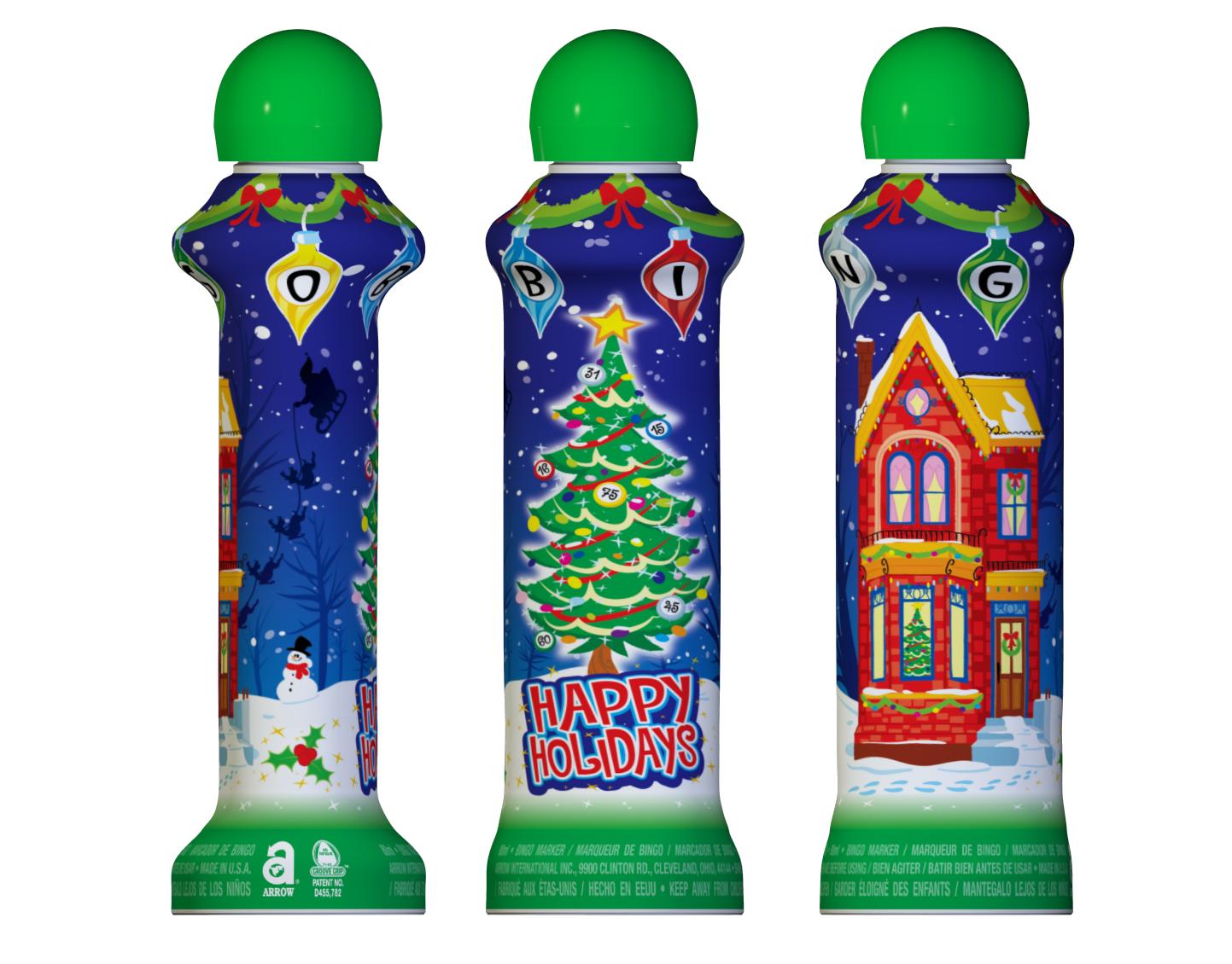 Happy Holidays Bingo Ink Markers