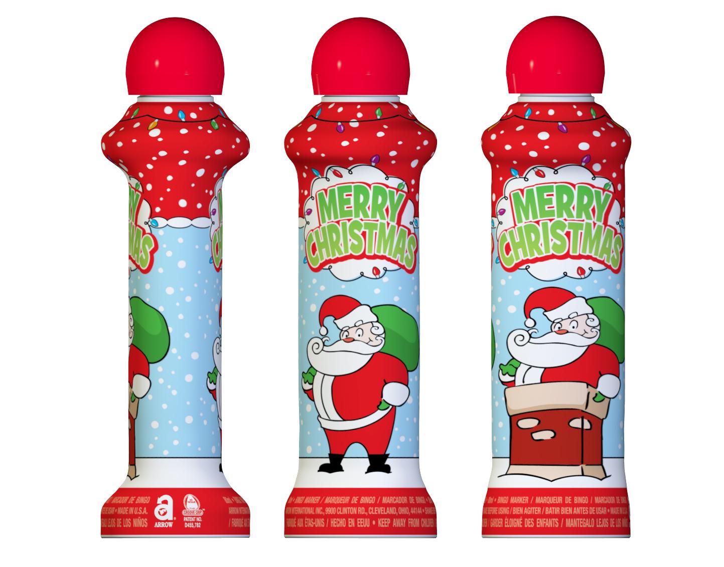 Merry Christmas Bingo Ink Markers
