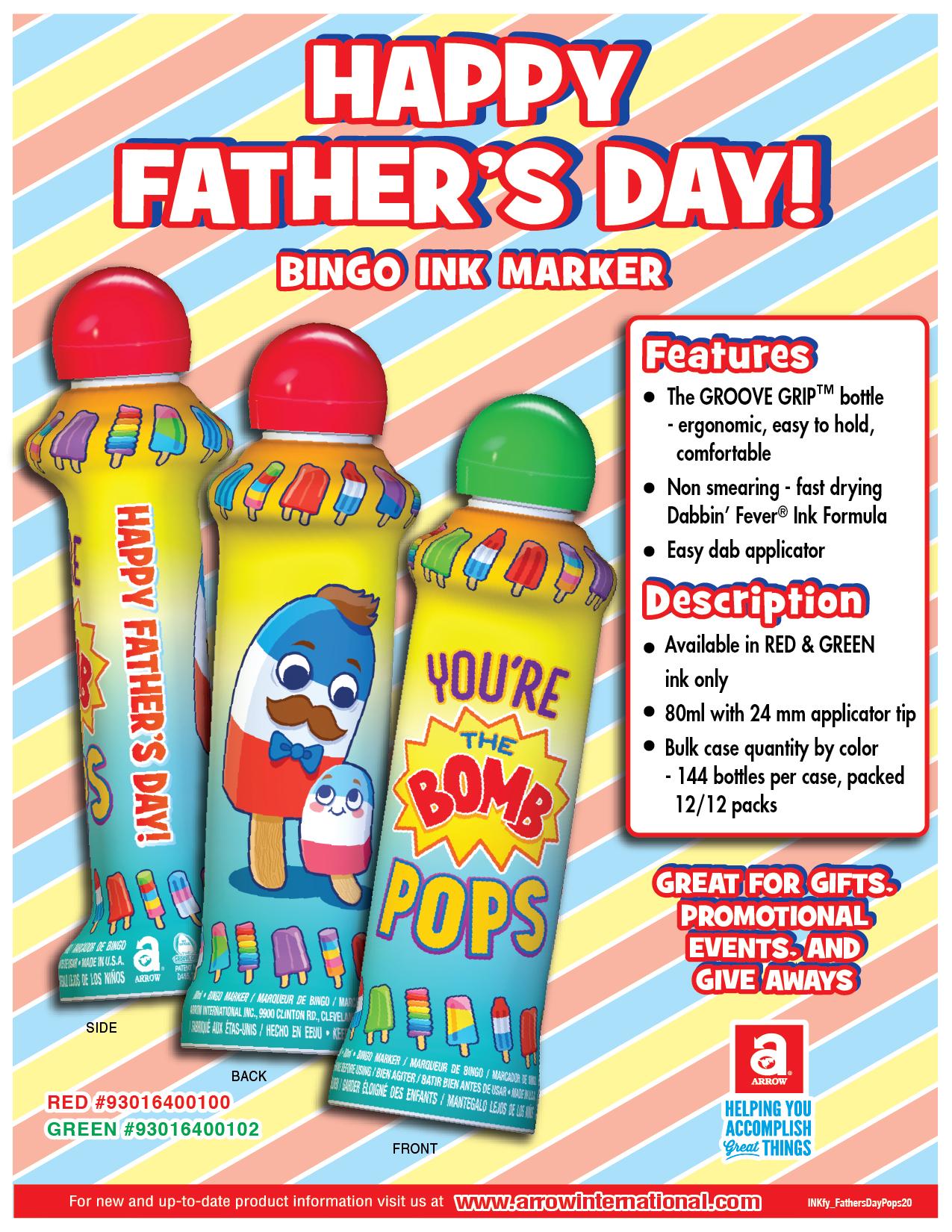 Father's Day Bingo Ink Marker
