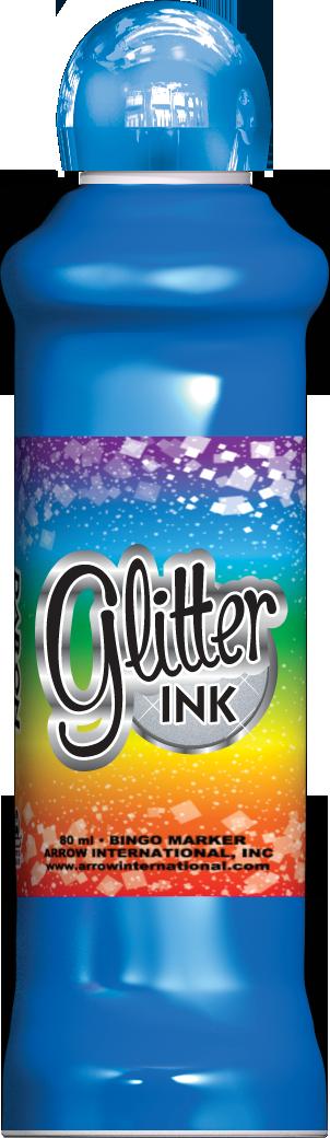 Blue Glitter Ink