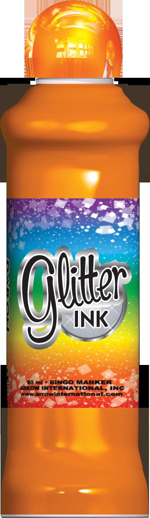 Orange Glitter Ink