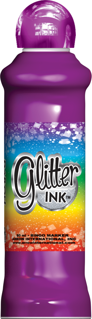 Purple Glitter Ink