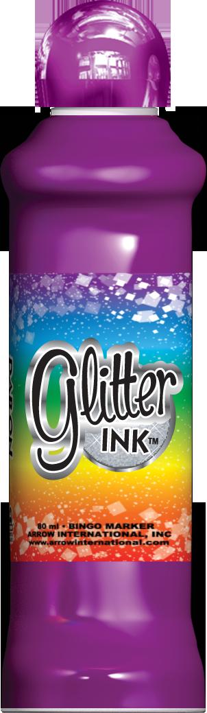 Purple Glitter Ink