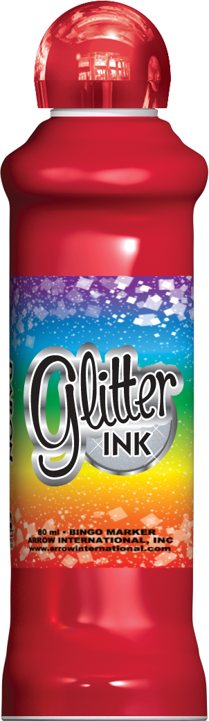 Red Glitter Ink