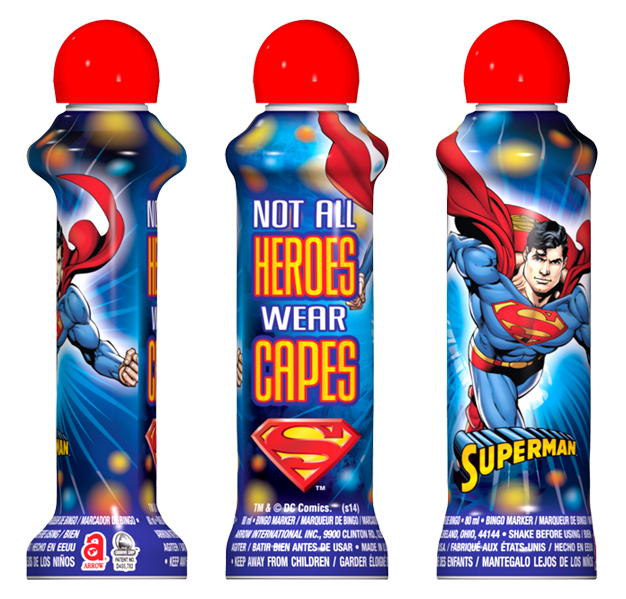 Superman Licensed Bingo Ink