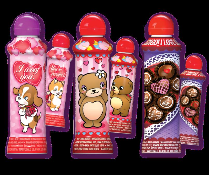 Valentine Puppy & Kitten, Love Bears, & Chocolate Heart
