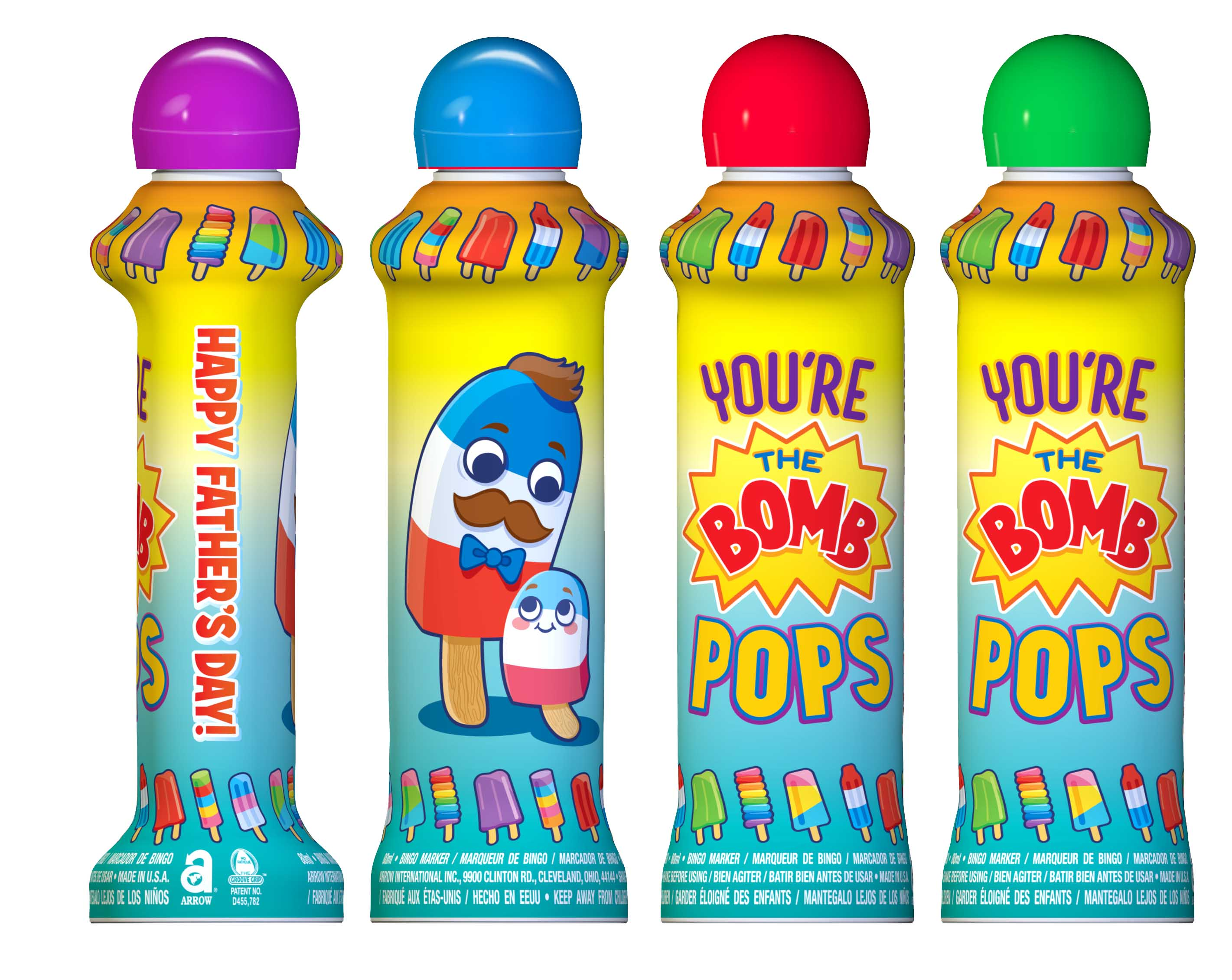 Bomb Pop Father's Day Bingo Ink Bottle