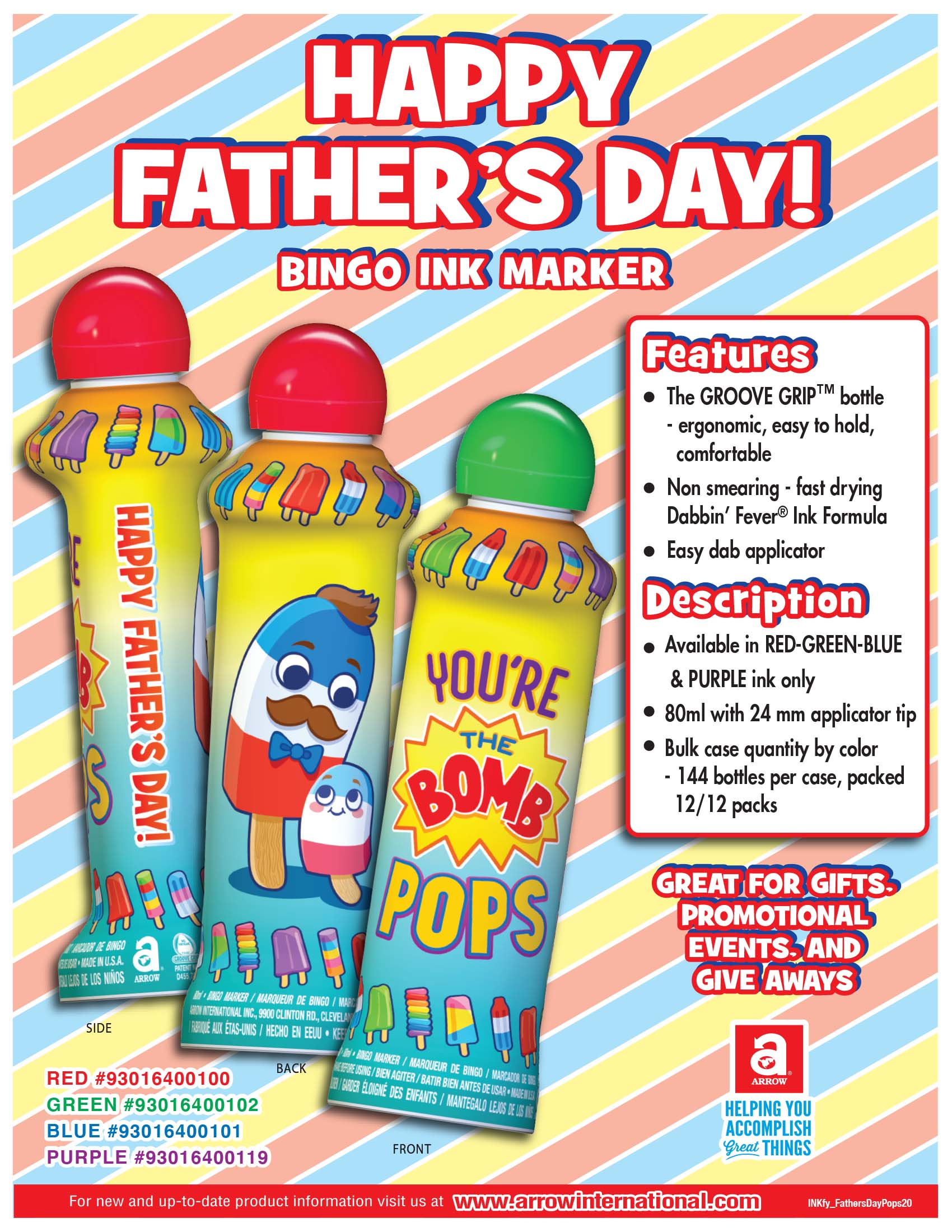 Happy Father's Day - Bomb Pops Flyer