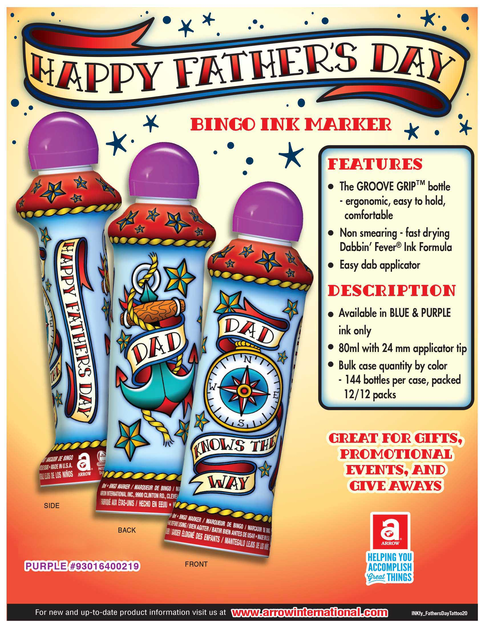 Happy Father's Day - Tattoo Flyer